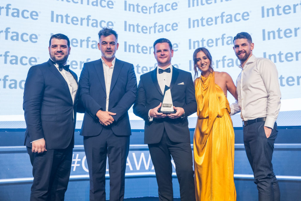Perkins and Will team winning 2019 Commercial Interior Design of the year for Saudi Aramco's fourth industrial Revolution Centre.